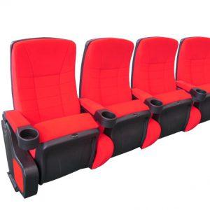 Cinehome de Luxe Red 4-Sitzer