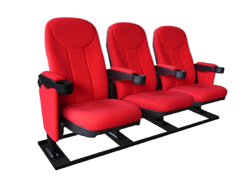 Cineseat F bioscoopstoelen 3 zitter op een M-frame