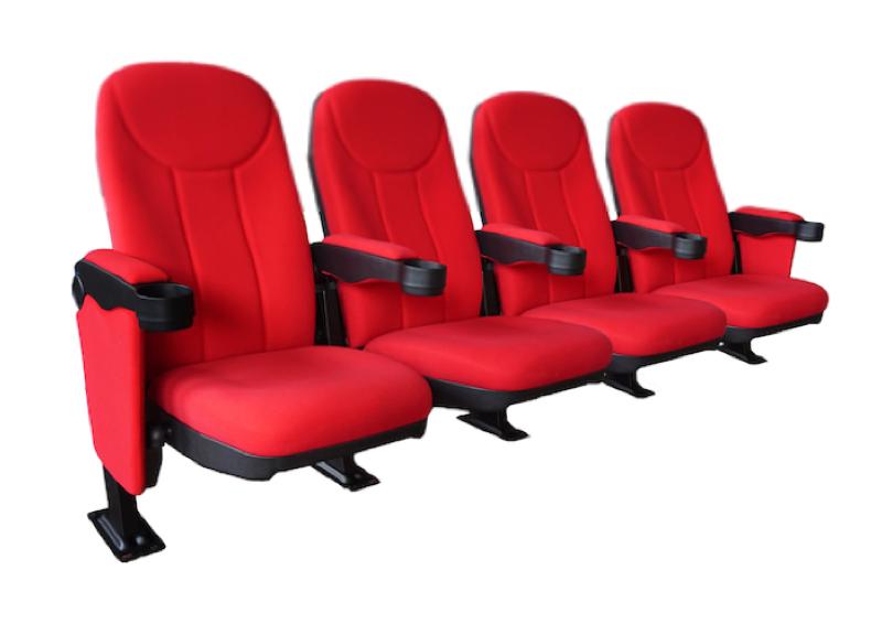Cineseat bioscoopstoelen 4 zitter met vaste zittingen
